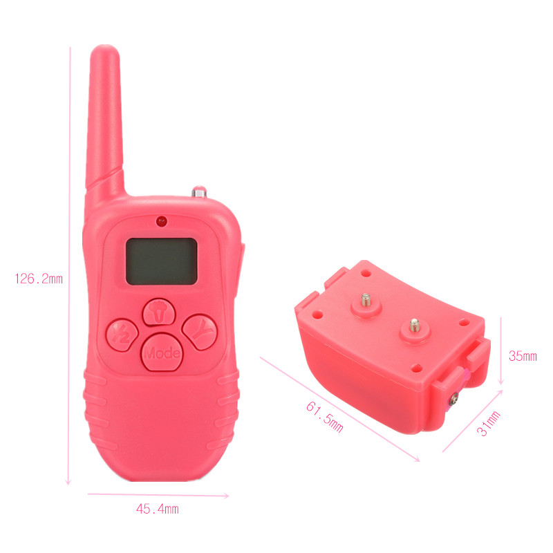 Waterproof Rechargeable LCD 100 Level Shock Vibrate Remote 1 Dog Training Collar
