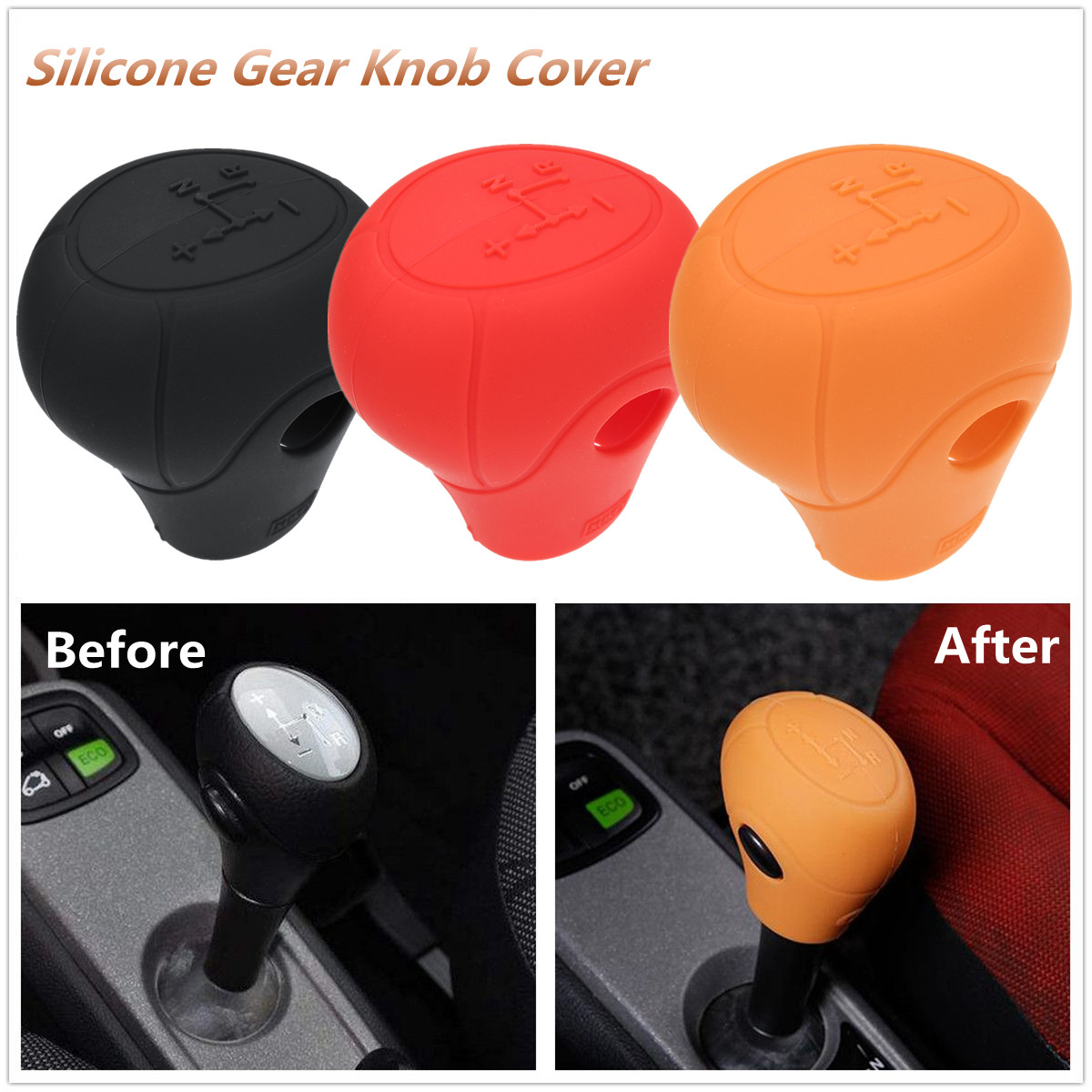 For Benz Smart Fortwo 2009 -2014 Silicone Gear Knob Cover Shift Glove Skin Case Protective Case