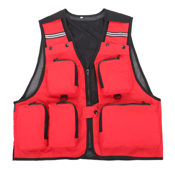 Mens Outdooors Sport Fishing Vest Quick Drying Multi Pocket Photography Vest 8 Colors