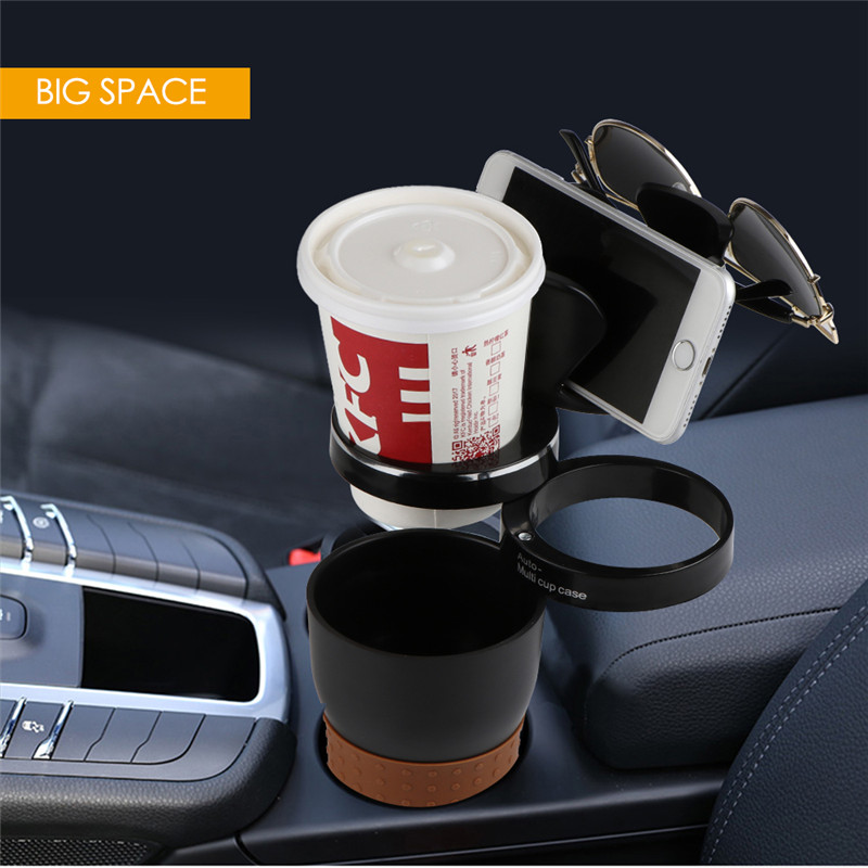 Multifunction Large Capacity Storage Cup Accessory Management Car Holder Stand for Mobile Phone