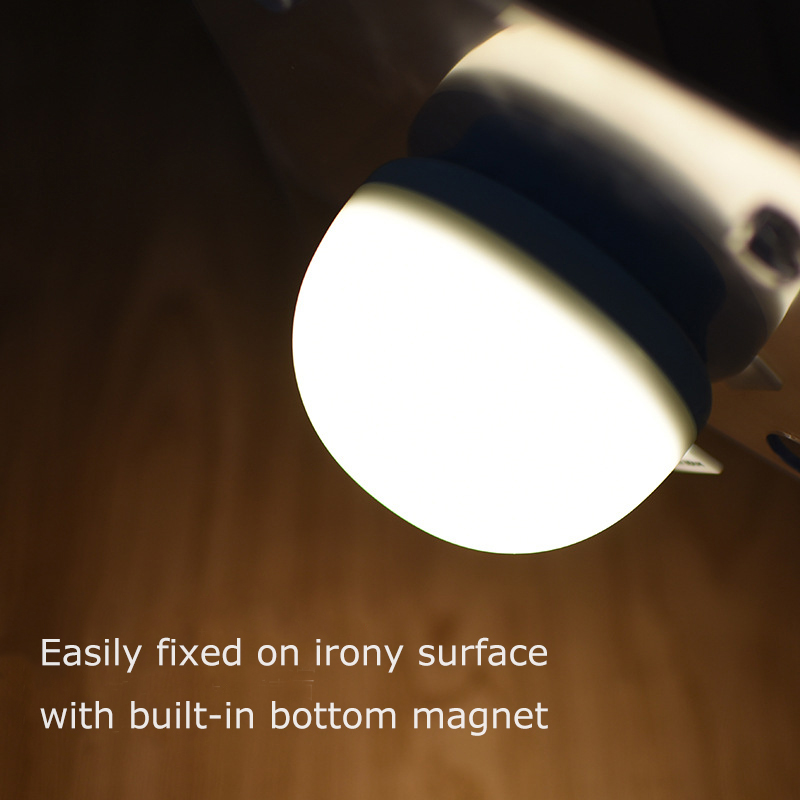 USB Chargeable Adjustable ABS 8*SMD LED Night Lamp Touch Night Light Built-in Magnet 500mAh Battery