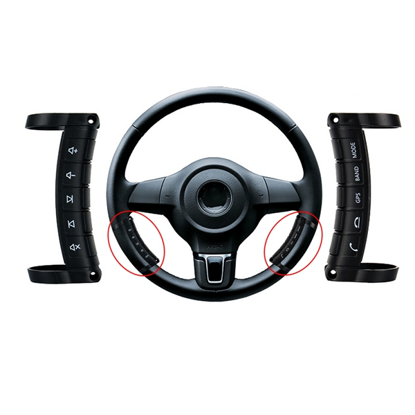 Universal Wireless Multifunctional Steering Wheel Controller Button Remote Control For Stereo DVD GPS Navigation Super Touch Integrated Arc Design