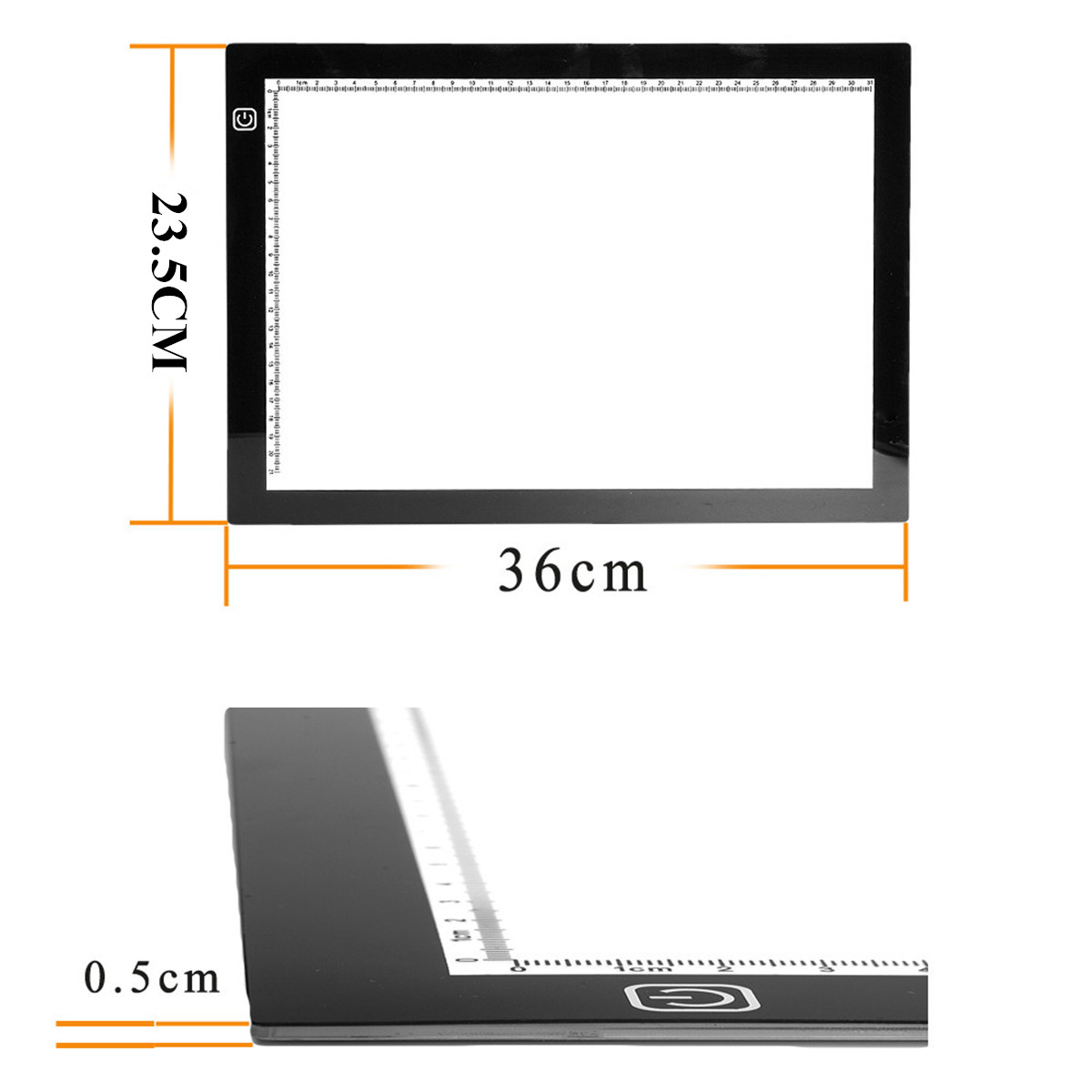 M.Way 36x23x0.5cm Ultra Thin A4 LED Copy With USB Cable Adjustable Brightness Copy Board Drawing
