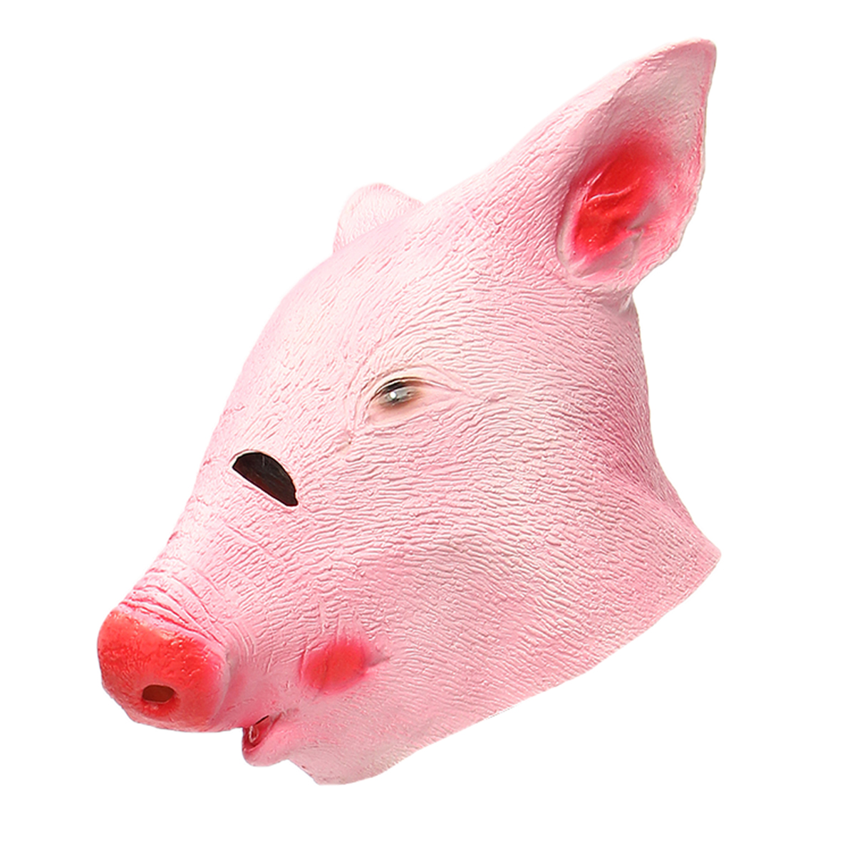 Funny Creepy Pig Head Mask Cosplay Animal Halloween Costume Comedy Theater Prop