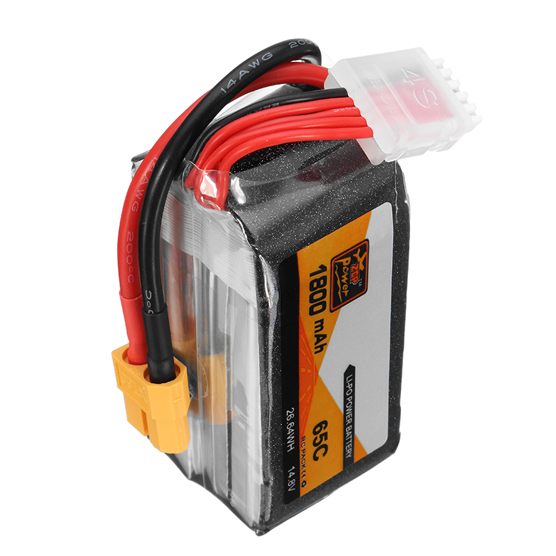 ZOP Potencia 14.8V 1800mAh 65C 4S Batería de Lipo XT60 Enchufe