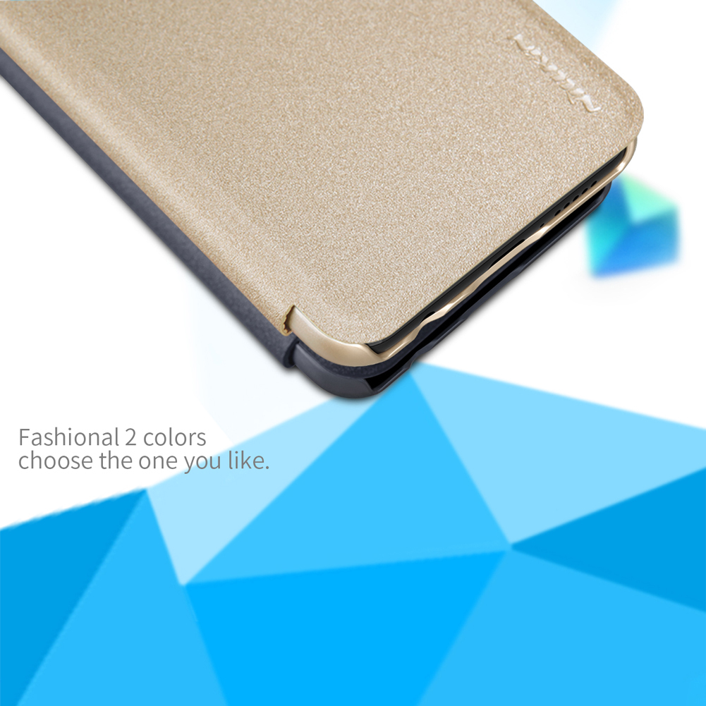 NILLKIN Sparkle Flip Smart Sleep PU Leather Protective Case With Magnetic For Huawei Honor 10