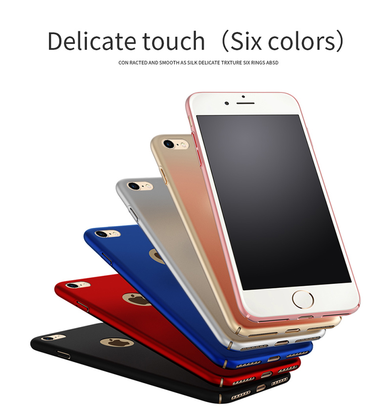 Matte Silky Skid Resistant Hard PC Case For iPhone 7/iPhone 8