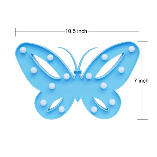 3 W Creative Butterfly Shape Night Light Children Bedroom Decoration Lamp