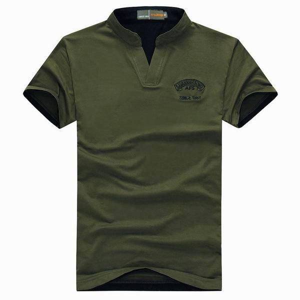 Mens Solid Color Cotton Golf Shirt