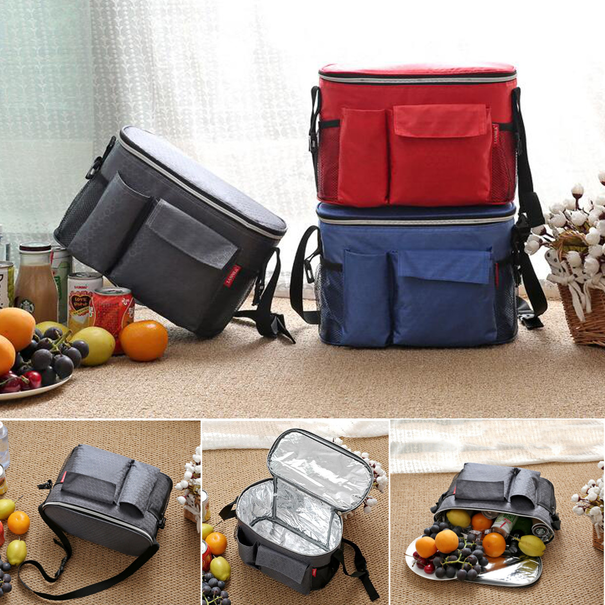 IPRee™ 8L Outdoor Picnic Lunch Ice Bag Insulated Thermal Cooler Storage Pack Pouch Camping Hiking