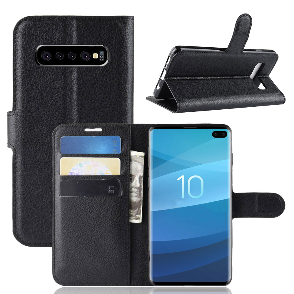 PU Leather Wallet Kickstand Flip Protective Case For Samsung Galaxy S10 Plus 6.4 Inch