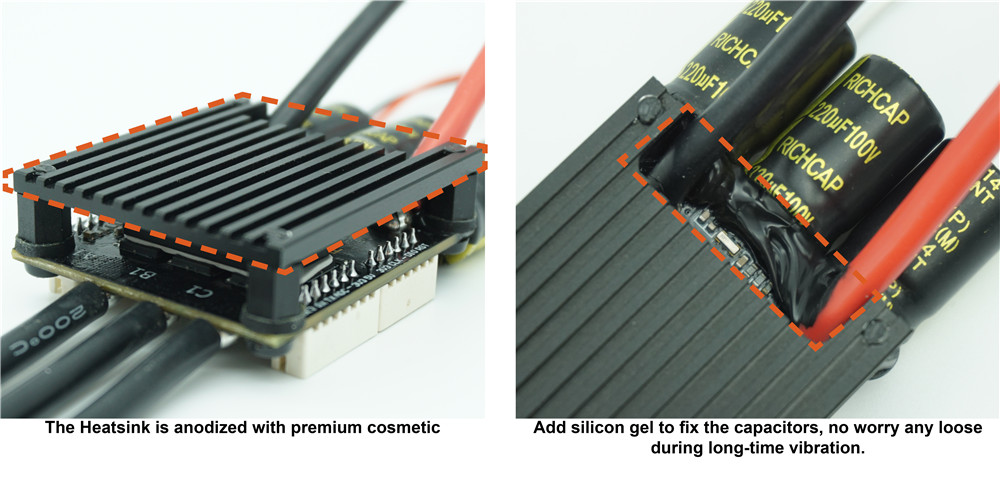 HGLRC-Flipsky Mini FSESC4.20 50A ESC Based Upon VESC With Aluminum Anodized Heat Sink for Rc Car - Photo: 3