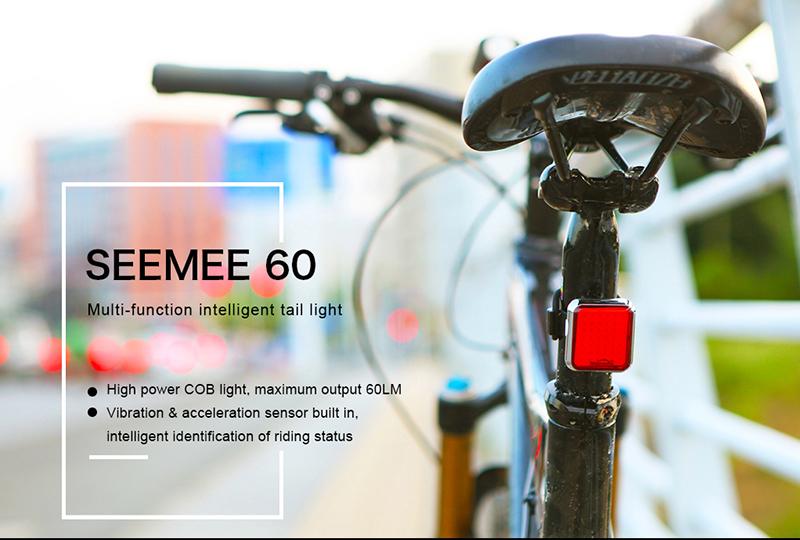 Magicshine Seemee 60 Cycling Bike Taillight 60 lumens Bike Blinker Light USB Rechargeable Rear Light