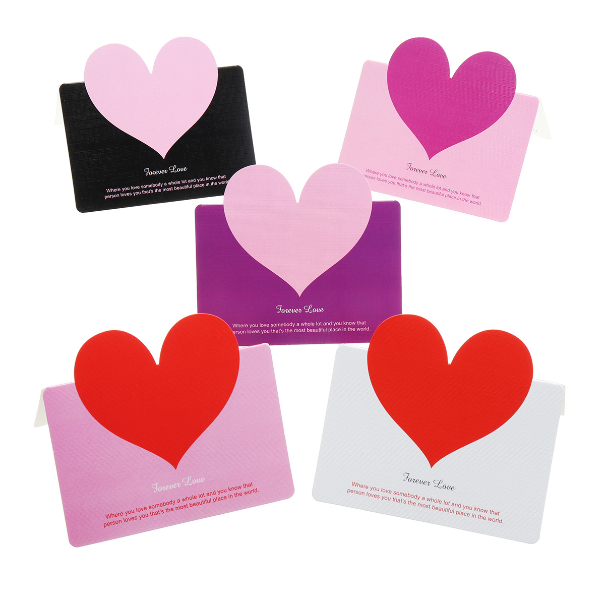 50PCS Mother's Day Love Heart Card Tags Greeting Card Gift Decoration Toys