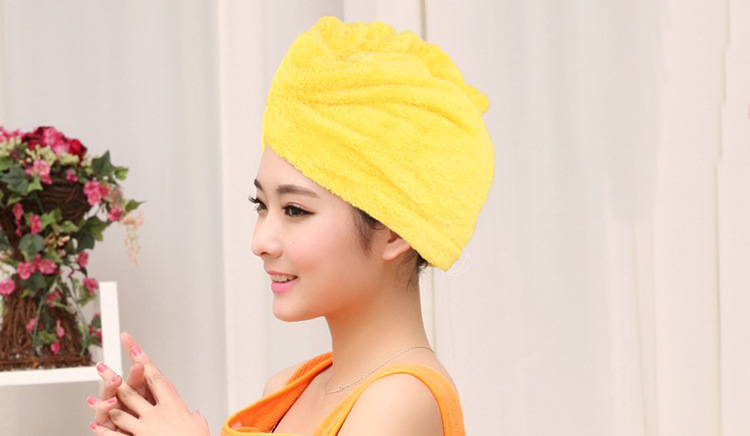 Honana BX-577 Bathroom Coral Elastic Band Quick Drying Bath Towel Hair Drying Cap Salon Spa Towel