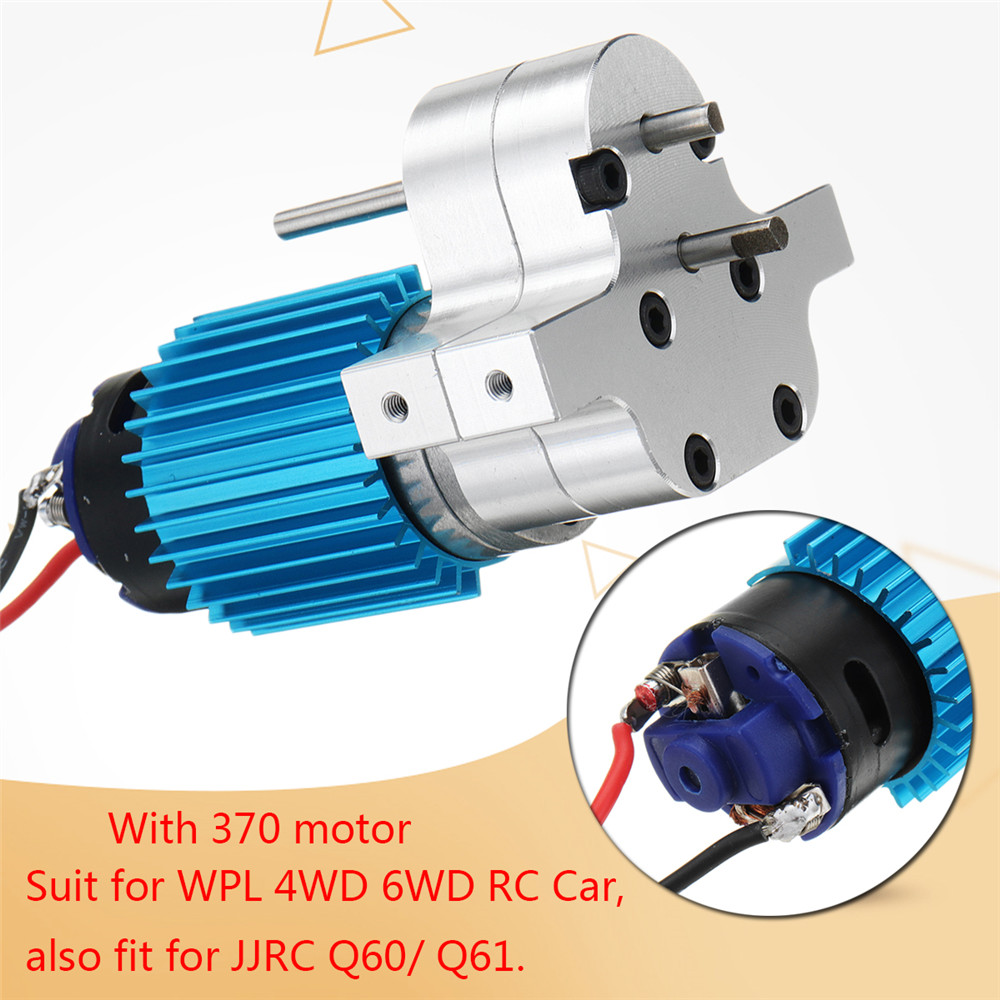 1PC Metal Transfer Gear Box W/ 370 Motor for WPL B-16 B-24 B-36 C24 JJRC Q60 Q61 4WD 6WD RC Car