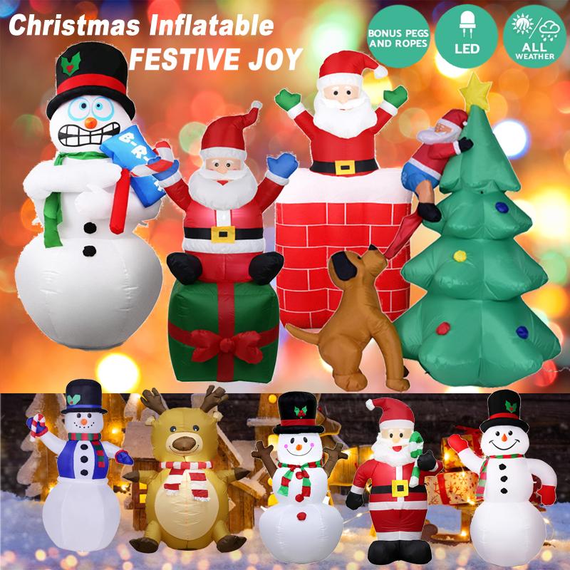 Christmas Inflatable.1 8m Christmas Inflatable Pop Up Santa Xmas Decoration Toys Outdoor Garden Lights