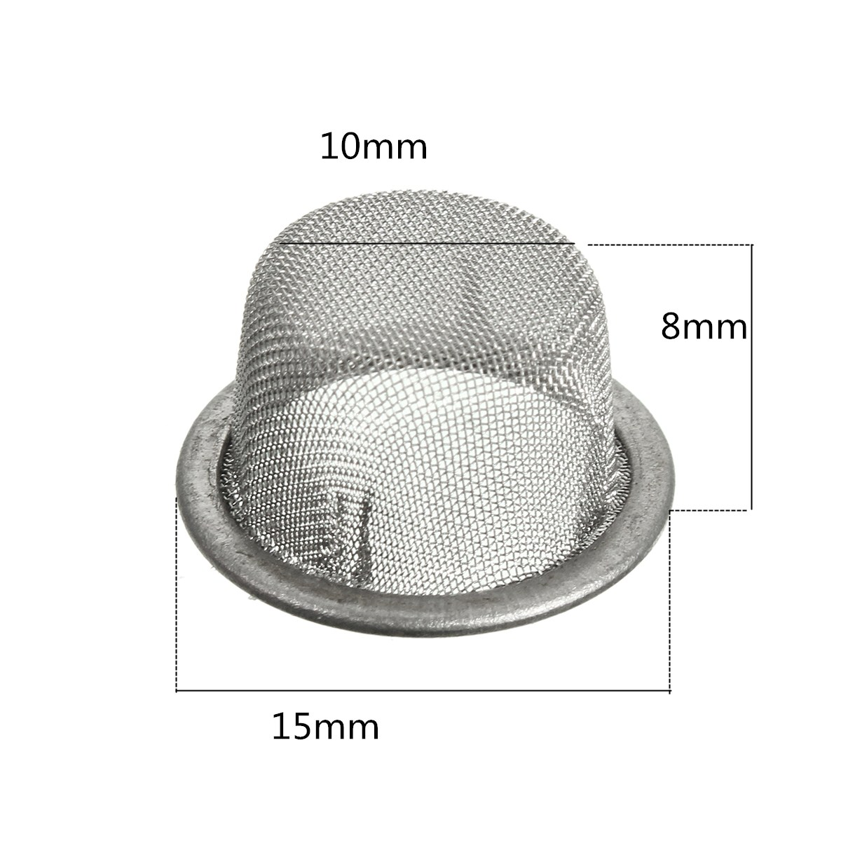 5Pcs 15mm Stainless Steel Metal Screen Mesh Filter for Crystal Tobacco Smoking Pipe