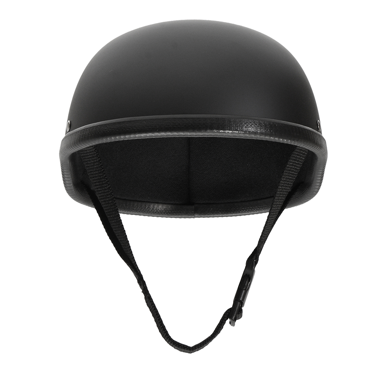Motorcycle Helmet Vintage Half Face Cap Matte Black For Harley Chopper