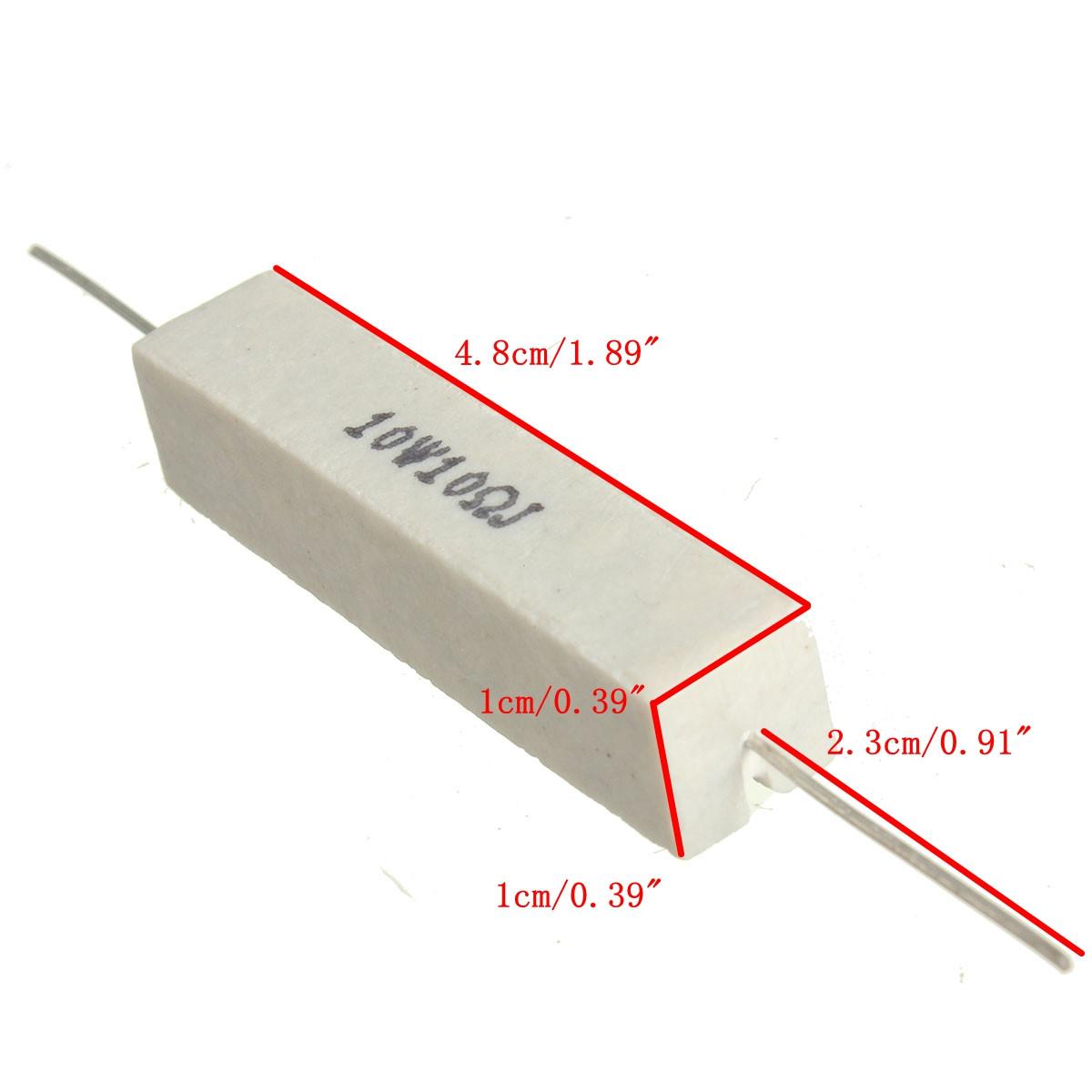 10w 10 ohm 10ΩJ Ceramic Cement Power Resistor Flame Resistance ± 5% J