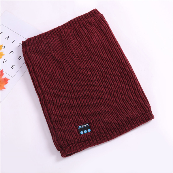 Mens Womens Warm Wireless bluetooth Music Knitted Scarf