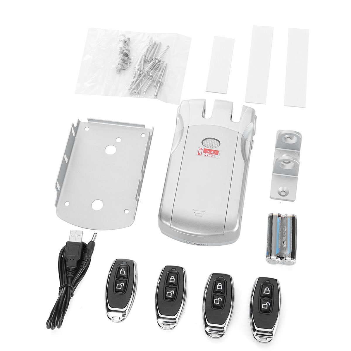Remote Control Anti-theft Door Lock Home Wireless Security Access System Set