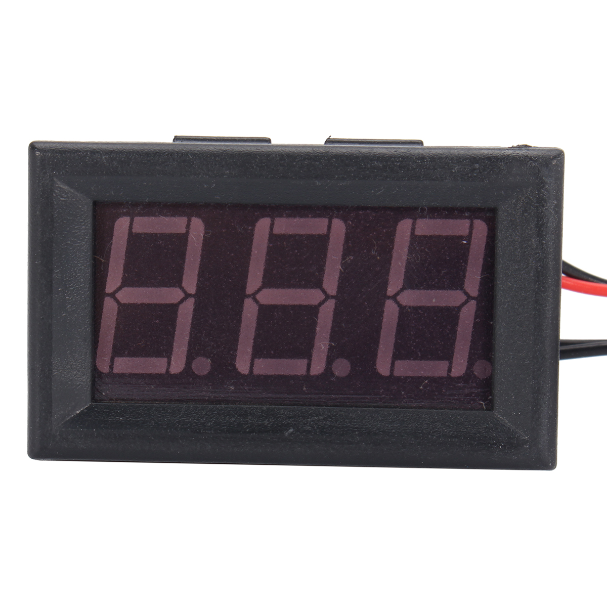 12V Red Digital Display Thermometer LED Waterproof Temperature Sensor Test Meter