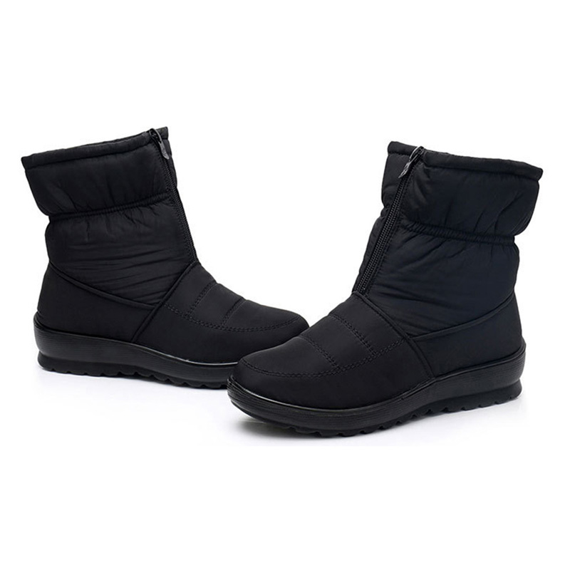 Waterproof Zipper Snow Mid Calf Boots