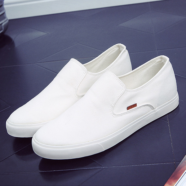 Men Casual Shoes Outdoor Fashion Slip On Canvas Comfortable Flat Sneakers