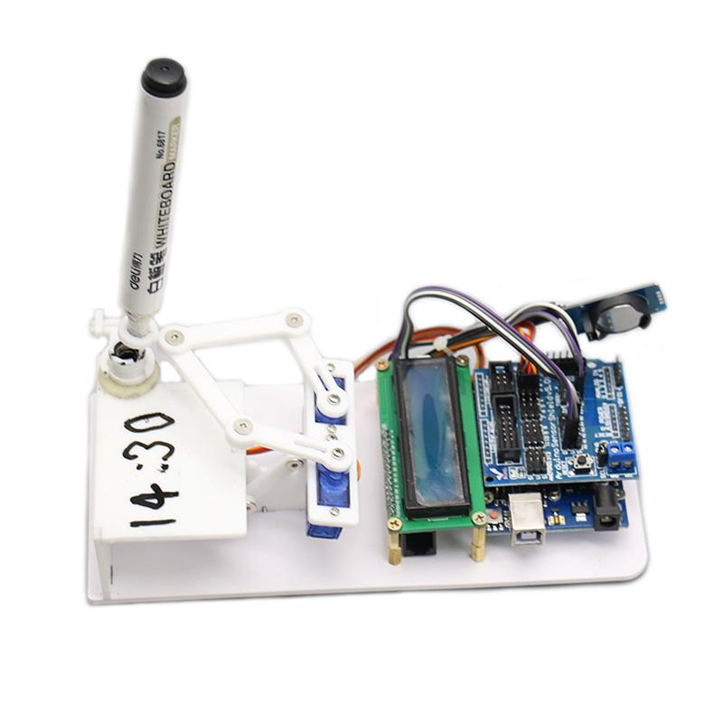 Plotclock Upgraded Manipulator Drawing Robot Robotic Clock with Arduino Controller