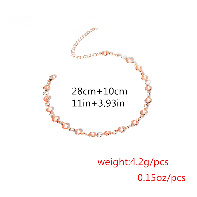 Simple Pink Crystal Choker Necklace For Women