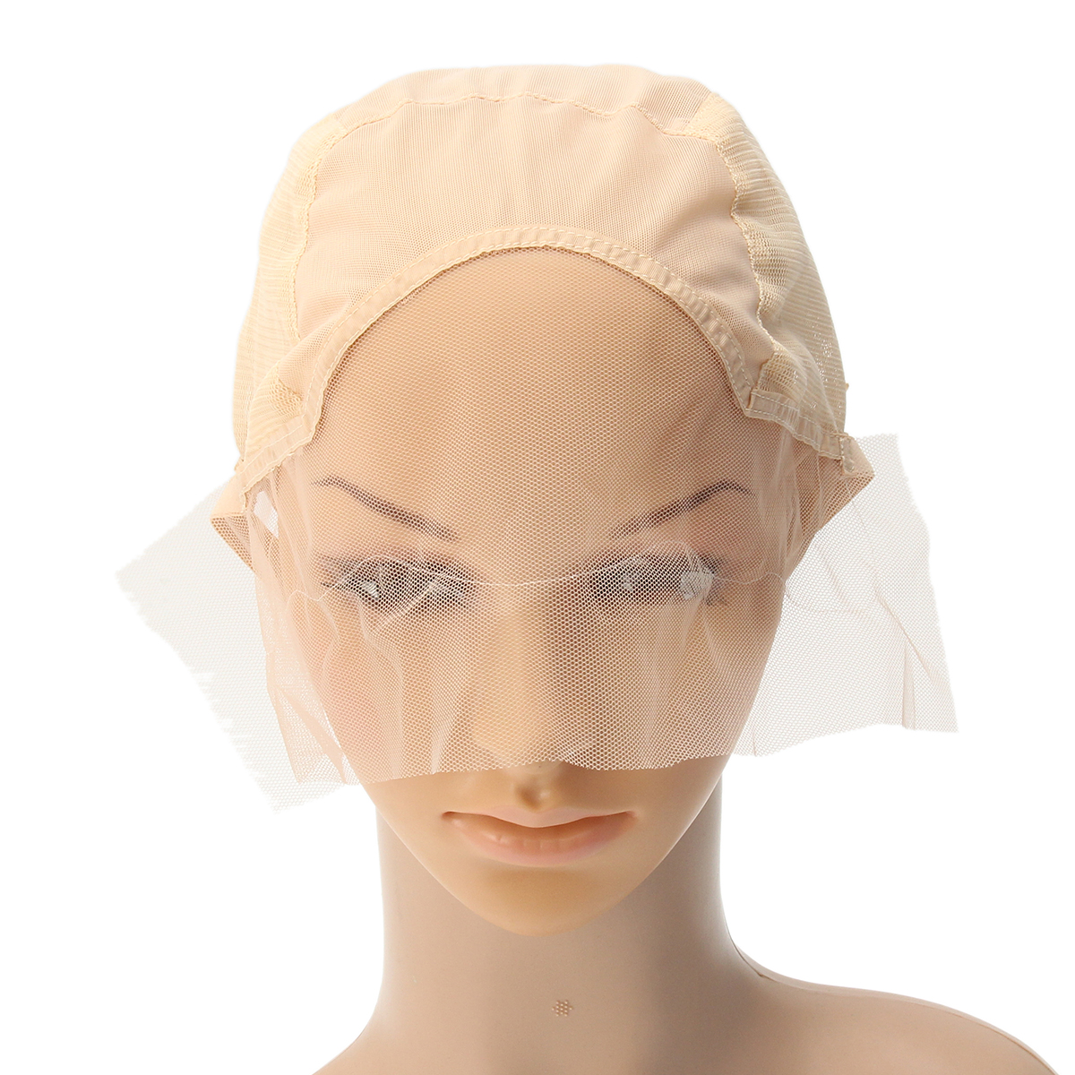 Wig Cap For Wig Making Weave Cap Elastic Hair Net Mesh Adjustable Straps