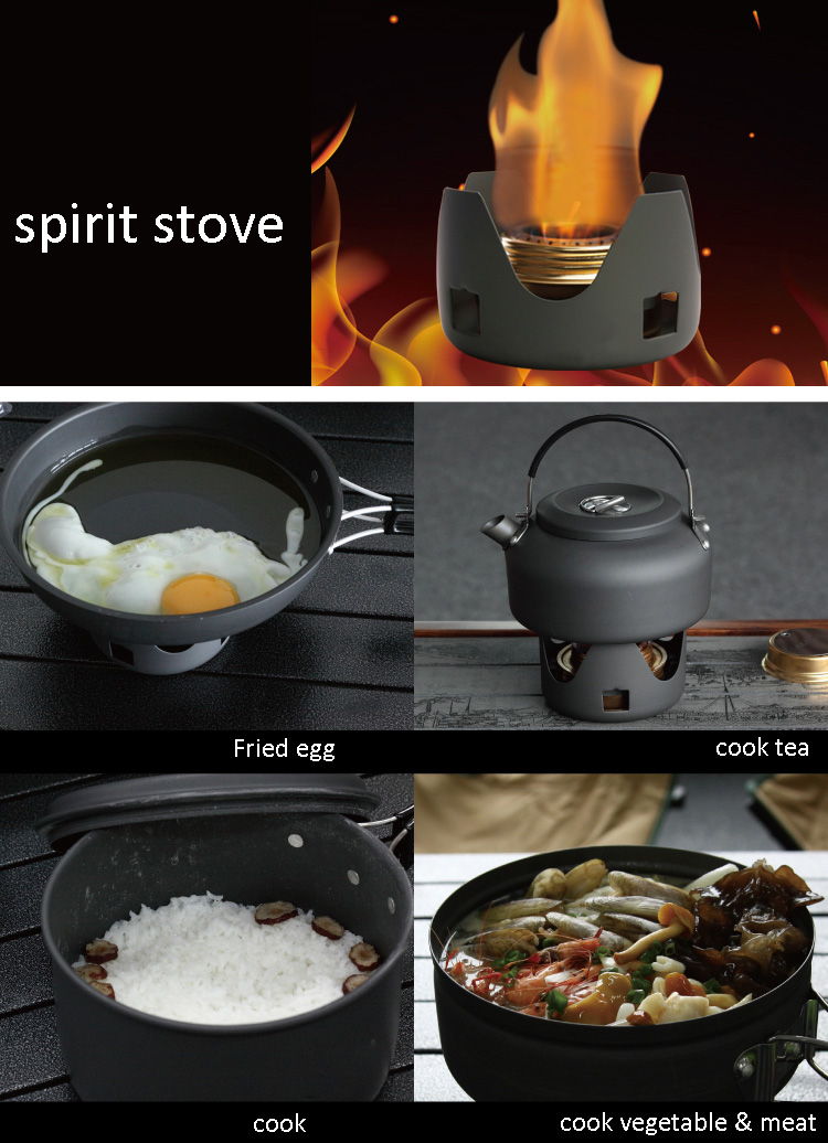 Portable Outdoor Mini Spirit Burner Stove for BBQ Hiking Camping