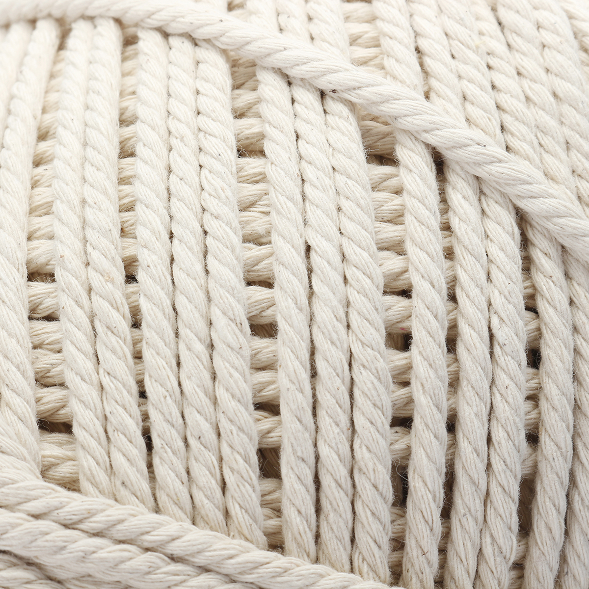 900M 4 Strands Braided Cotton Rope 5mm Twisted Cord Craft Rope Multifunctional Tools