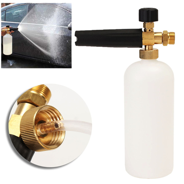 1L Adjustable Snow Foam Lance Wash Gun Soap Pressure Washer Bottle Thread 22mm