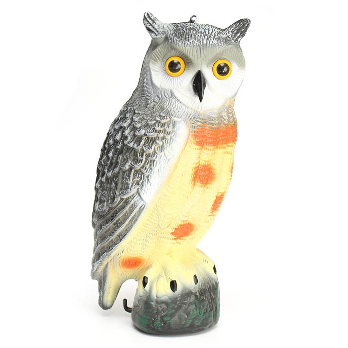 43cm Garden Protection Pest Repellent Bird Scarer Artificial Resin Owl Courtyard Landscape Ornament
