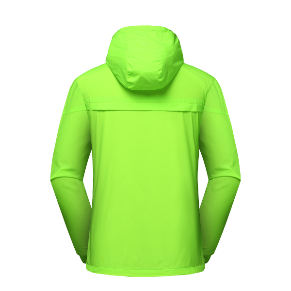 Mens Outdoor Hooded Solid Color Jacket Casual Sport Windproof Coat
