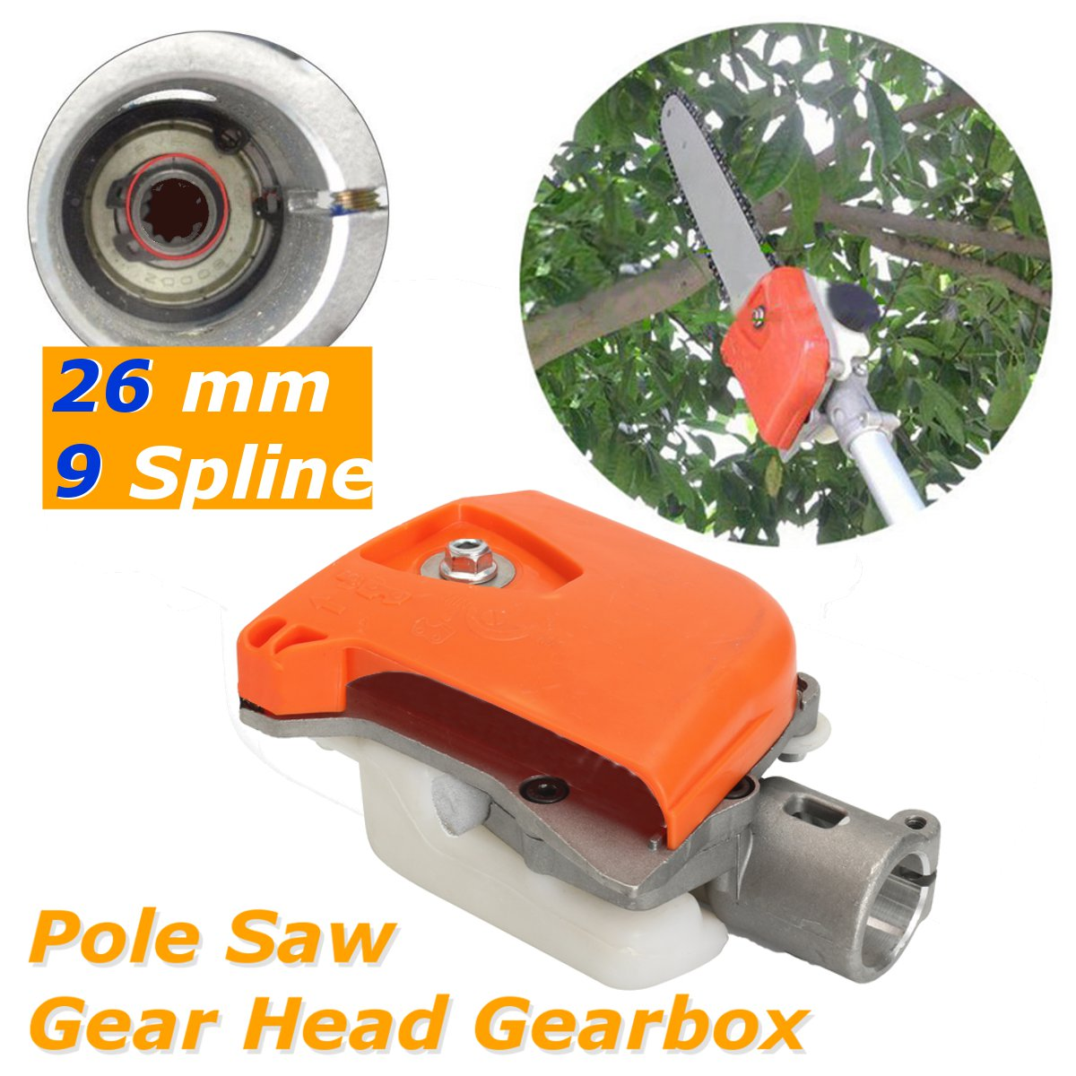 26mm 9 Gears Pole Saw Chainsaw Gear Head Gearbox for Stihl Trimmer