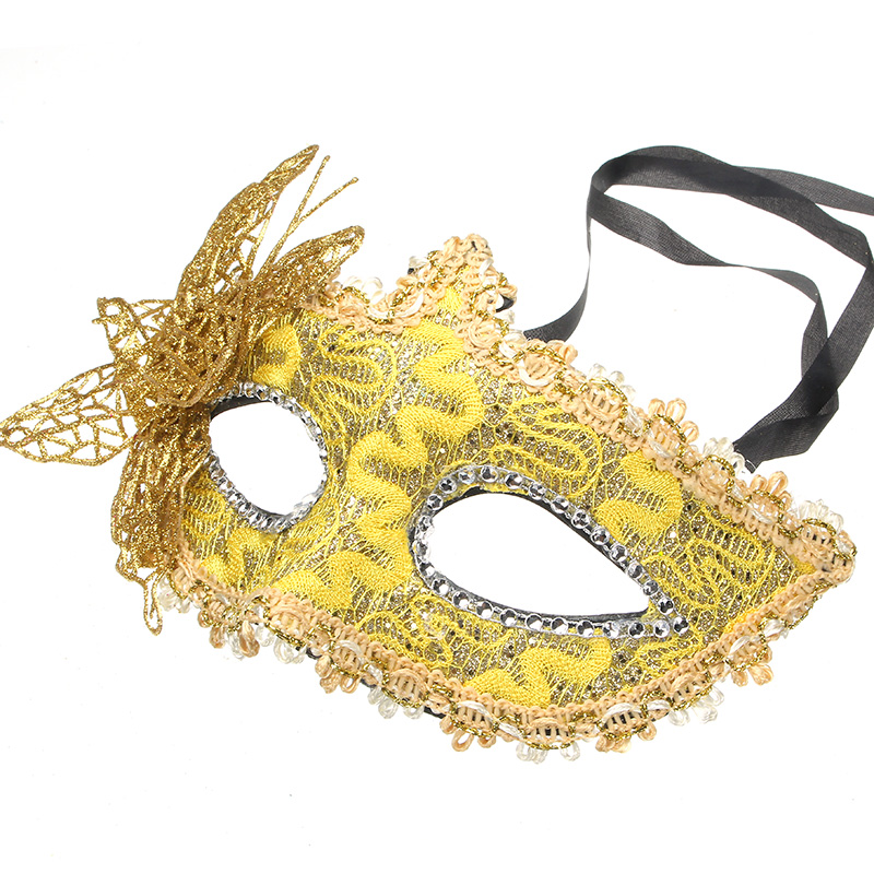 Halloween Costumes Butterfly Gold Mask Masquerade Party DIY Drawing