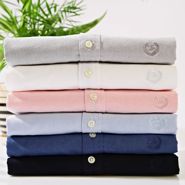 Mens Cotton Long Sleeve Pure Color Button up Casual Stylish Shirt