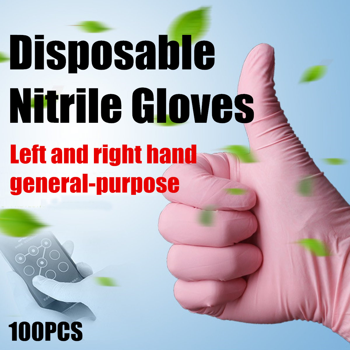 100Pcs S/M/L Disposable Nitrile Gloves Rubber Latex Cleaning Mechanic Medical Glove