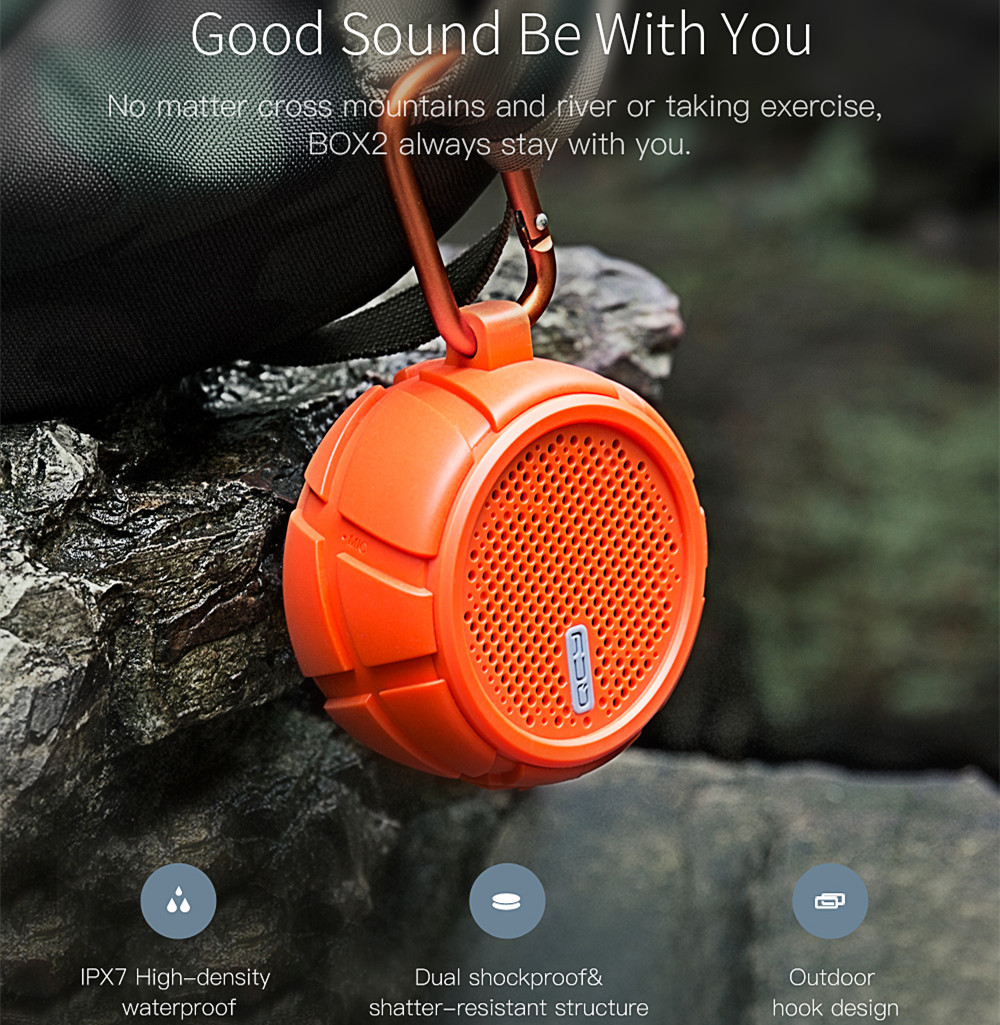 Xiaomi QCY BOX2 Wireless bluetooth Speaker Dual Deep Bass IPX7 Waterproof Outdoor Speaker for iPhone Xiaomi