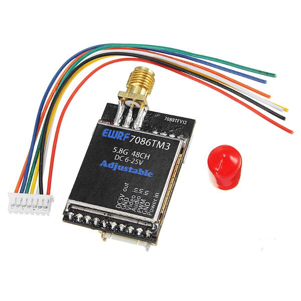 EWRF-7086TM3 5.8G 48CH 25/200/600mW Switchable Raceband Wireless FPV Audio Video Transmitter