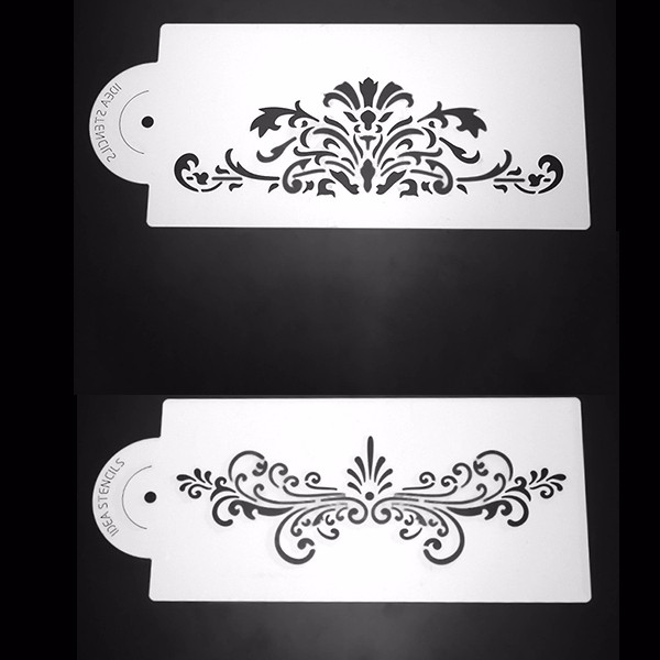 2Pcs Lace Plastic Cake Stencil Wedding Cake Side Decorating Tool 8*4 Inch