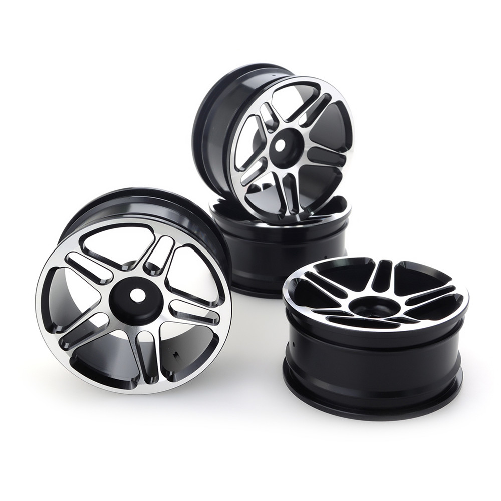 4PCS Aluminium Alloy Wheel Hubs Diameter 52mm for HSP HPI Kyosho Tamiya LRP 1/10 Drift Rc Car