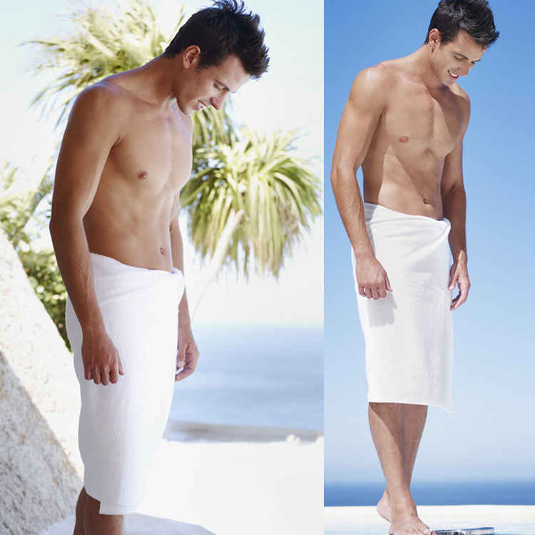 Honana BX-R358 Bathroom Summer Soft Mens Bath Wrap Towels Shower Spa Bath Towel Wrap