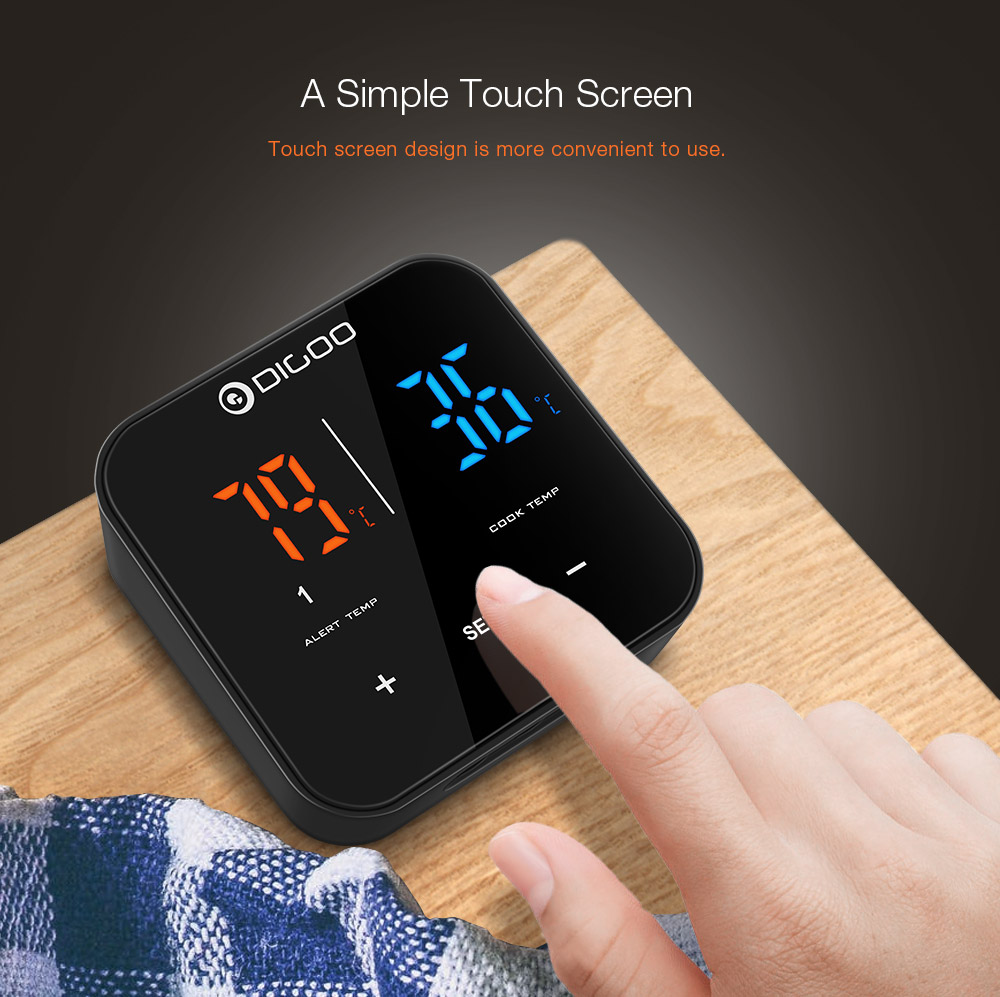 Digoo DG FT2303 Three Channels Smart Bluetoorh BBQ Thermometer Kitchen Cooking Thermometer