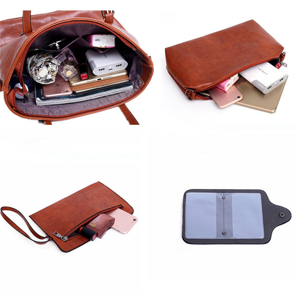 4 PCS Women Handbag Multi-function Crossbody Bag
