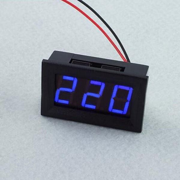 3Pcs 0.56 Inch Blue AC70-500V Mini Digital Voltmeter Voltage Panel Meter AC Voltage LED Display Meter