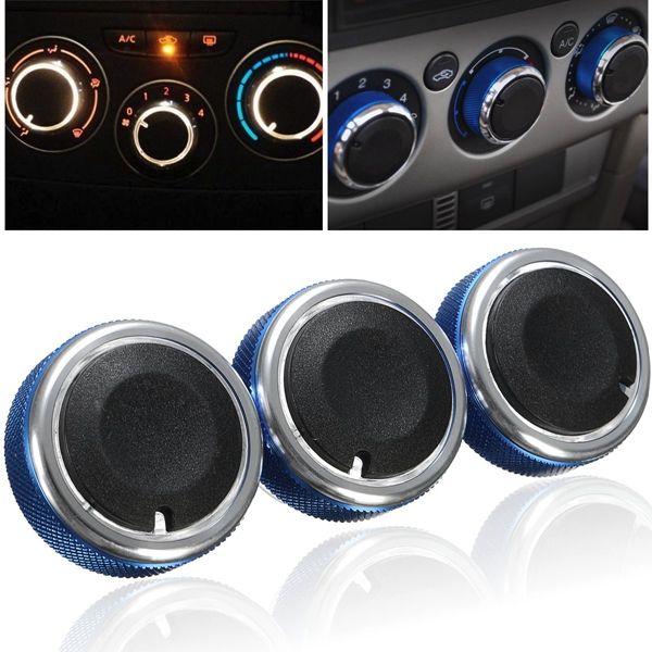 Car Air Condition Konb Buttons Control Blue for Ford Focus 2005-2014 Mondeo